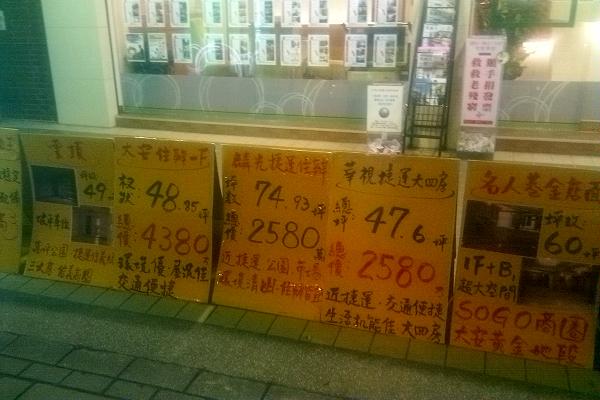 台北二手房价格
